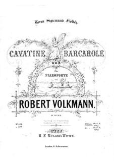 Cavatina and Barcarolle, Op.19: Cavatina and Barcarolle by Robert Volkmann