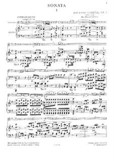 Sonata for Violin and Piano, Op.5: Sonata for Violin and Piano by Jan Václav Voříšek