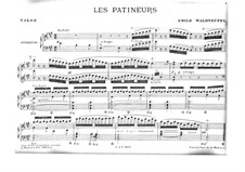 Les Patineurs (Ice Skaters), Op.183: For piano by Émile Waldteufel
