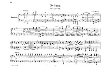 Silvana, J.87: Overture, for piano four hands by Carl Maria von Weber