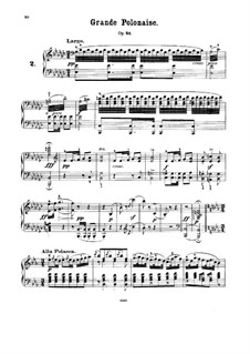Grand Polonaise, J.59 Op.21: For piano by Carl Maria von Weber