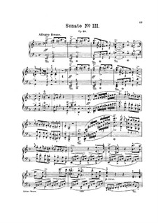Sonata for Piano No.3 in D Minor, J.206 Op.49: For a single performer by Carl Maria von Weber
