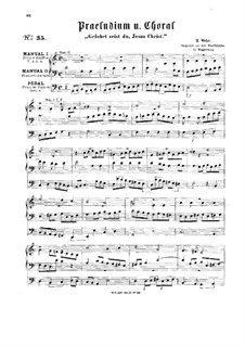 Prelude and Choral 'Gelobet seist du, Jesus Christ': Prelude and Choral 'Gelobet seist du, Jesus Christ' by Hermann Ferdinand Albert Wilhelm Wehe