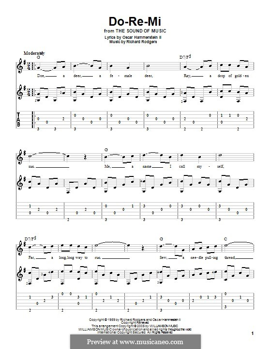 Do-Re-Mi (from The Sound of Music): For guitar by Richard Rodgers