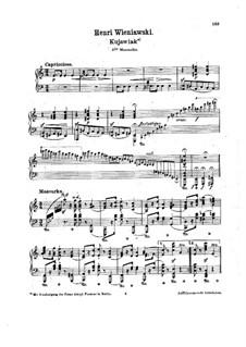 Kujawiak: For piano by Henryk Wieniawski