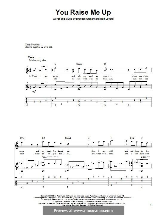 You Raise Me Up: For guitar by Brendan Graham, Rolf Løvland