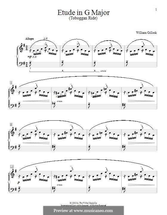 Etude in G Major: For piano by William Gillock