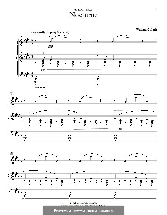 Nocturne: For piano by William Gillock