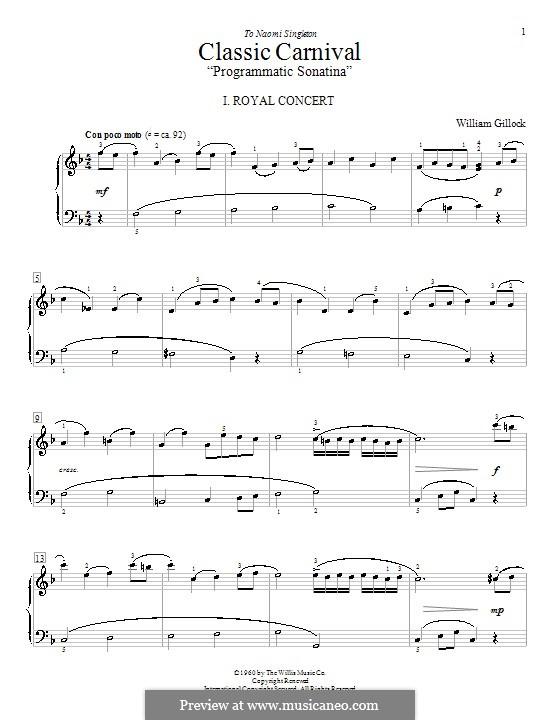 Classic Carnival: For piano by William Gillock