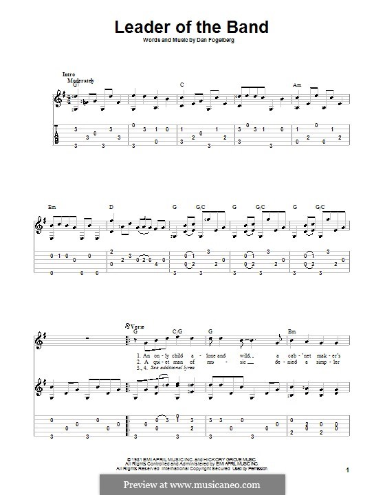 Leader of the Band: For guitar with tab by Dan Fogelberg
