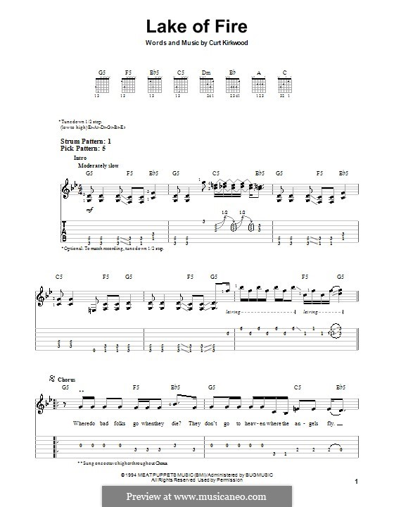 Lake of Fire (Nirvana): For guitar (very easy version) by Curt Kirkwood