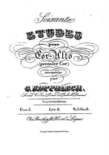Soixante etudes pour cor-alto, Op.5: Livre II by Georg Kopprasch