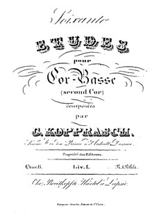 Soixante etudes pour cor-basse, Op.6: Livre I by Georg Kopprasch