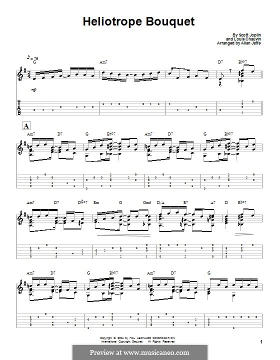 Heliotrope Bouquet: For guitar with tab by Scott Joplin, Louis Chauvin