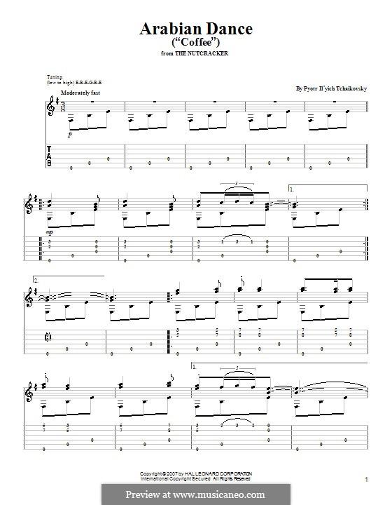 No.5 Arabian Dance: For guitar by Pyotr Tchaikovsky