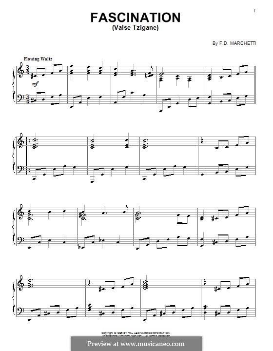 Fascination: For piano by Fermo Dante Marchetti