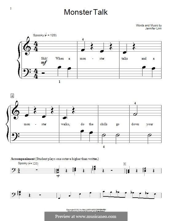 Monster Talk: For piano by Jennifer Linn