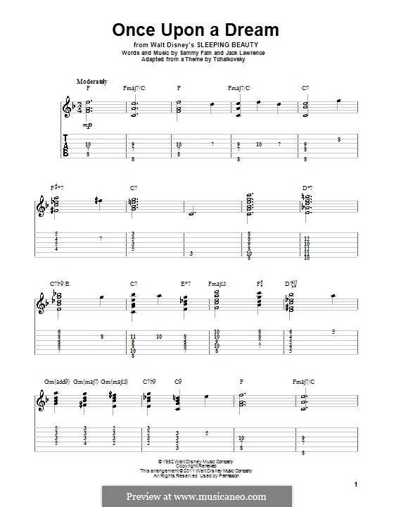 Once upon a Dream: For guitar with tab by Jack Lawrence, Sammy Fain