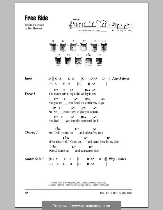 Free Ride (Edgar Winter Group) by D. Hartman - sheet music on MusicaNeo