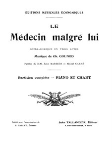 Le médecin malgré lui: Piano-vocal score by Charles Gounod