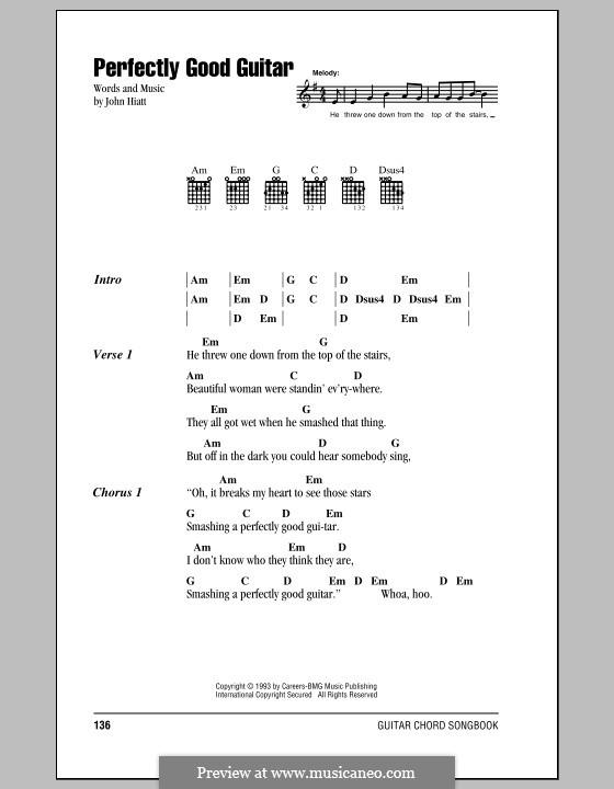 Perfectly Good Guitar: Lyrics and chords by John Hiatt