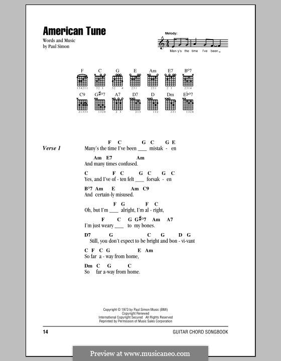 American Tune (Eva Cassidy) by P. Simon - sheet music on MusicaNeo
