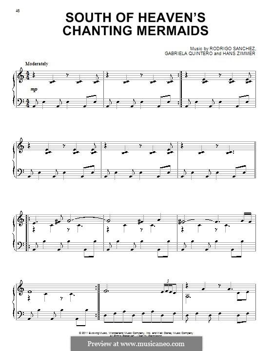 South of Heaven's Chanting Mermaids: For piano by Gabriela Quintero, Rodrigo Sánchez