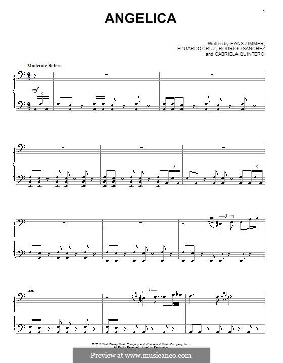Angelica: For piano by Eduardo Cruz, Gabriela Quintero, Rodrigo Sánchez