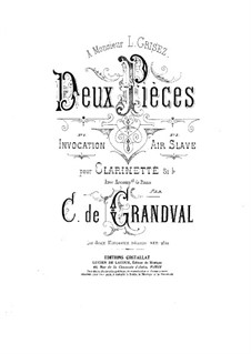 Two Pieces for Clarinet and Piano: Two Pieces for Clarinet and Piano by Marie Grandval