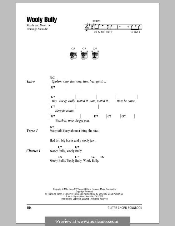 Wooly Bully (Sam the Sham & The Pharaohs): Lyrics and chords by Domingo Samudio