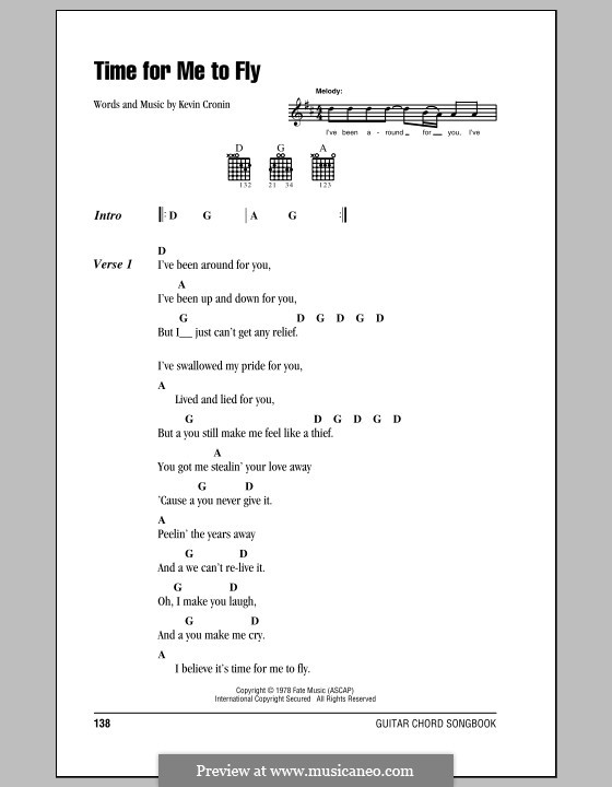 Time for Me to Fly (REO Speedwagon): Lyrics and chords by Kevin Cronin