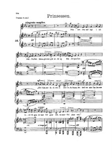 The Princess, EG 133: For voice and piano by Edvard Grieg