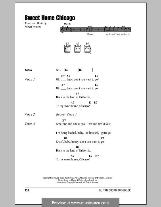 Sweet Home Chicago (Eric Clapton): Lyrics and chords by Robert Leroy Johnson