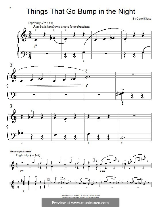 Things That Go Bump in the Night: For piano by Carol Klose