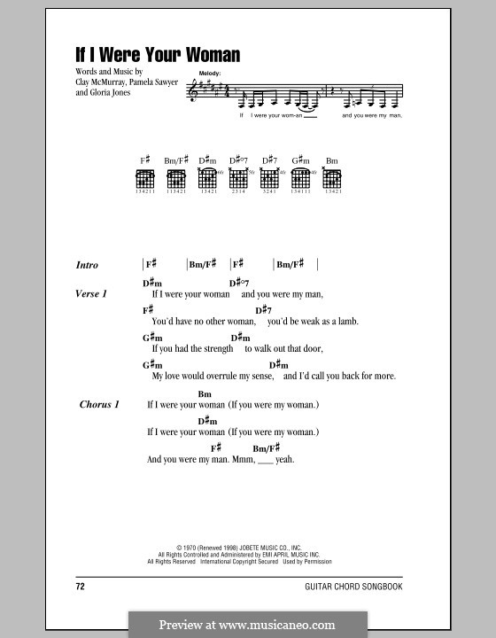 If I Were Your Woman (Gladys Knight and The Pips): Lyrics and chords by Clay McMurray, Gloria Jones, Pamela Sawyer