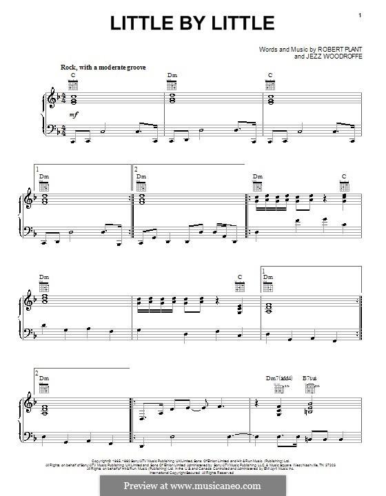 Little By Little: For voice and piano (or guitar) by Jezz Woodroffe