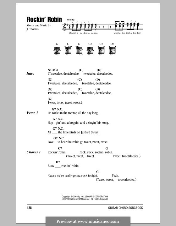 Rockin Robin Michael Jackson By L Ren Sheet Music On Musicaneo
