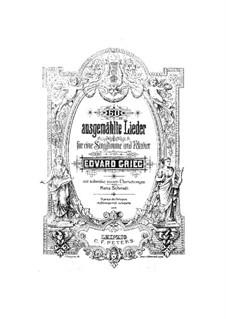 Sixty Selected Songs : Sixty Selected Songs by Edvard Grieg