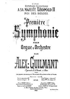 Symphony No.1 in D Minor for Organ and Orchestra, Op.42: Full score by Alexandre Guilmant