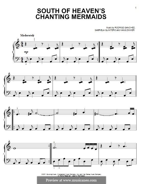 South of Heaven's Chanting Mermaids: For easy piano by Gabriela Quintero, Rodrigo Sánchez