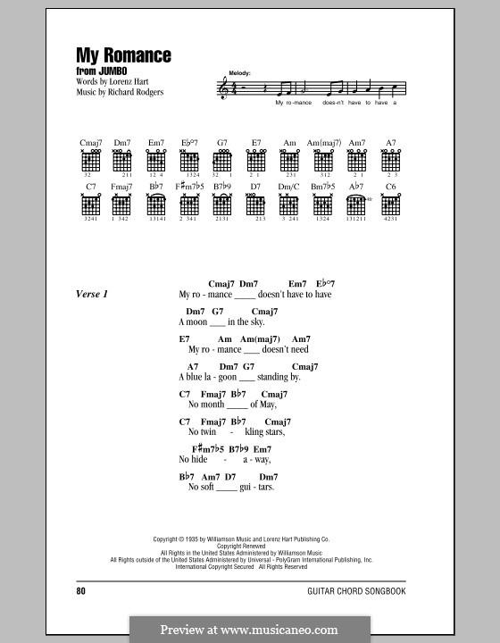 My Romance: Lyrics and chords by Richard Rodgers
