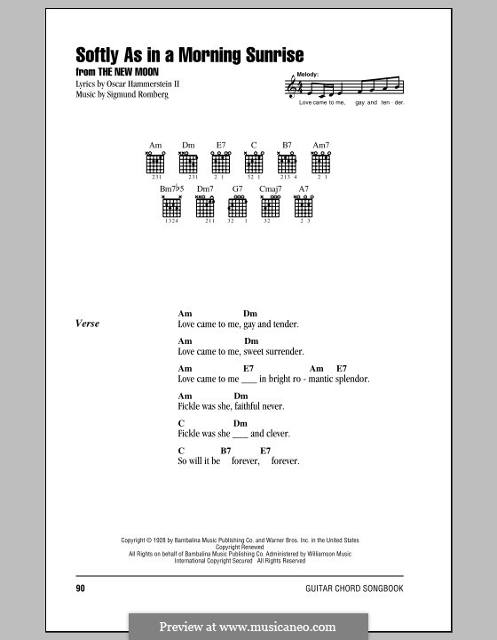 Softly as in a Morning Sunrise by S. Romberg - sheet music on MusicaNeo
