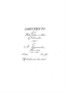 Quintet for Flute and Strings, Op.39: Quintet for Flute and Strings by Adalbert Gyrowetz