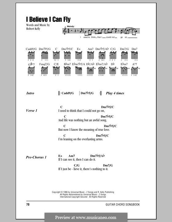 I Believe I Can Fly by R. Kelly - sheet music on MusicaNeo