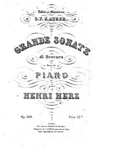 Grande sonate di Bravura, Op.200: Grande sonate di Bravura by Henri Herz