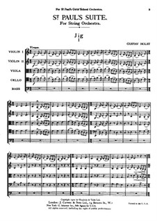 St. Paul's Suite, Op.29: Full score by Gustav Holst