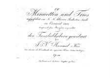 Twelve Minuets and Trios, Op.24: Twelve Minuets and Trios by Johann Nepomuk Hummel