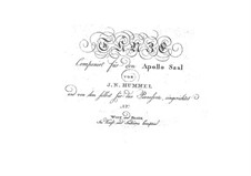 Dances for Apollo Saal: Book No.3, Op.31 by Johann Nepomuk Hummel