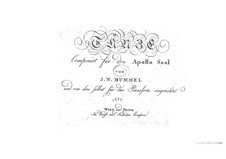Dances for Apollo Saal: Book No.4, Op.39 by Johann Nepomuk Hummel