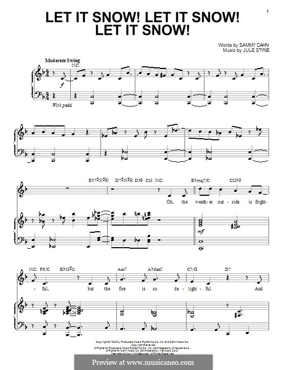 Let It Snow! Let It Snow! Let It Snow!: For voice and piano by Jule Styne